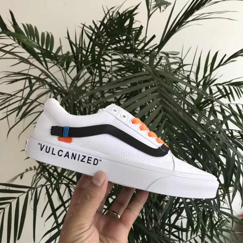 0164ea25994b ... Vans OFF-WHITE x Old Skool CE Y62 Virgil Abloh Classic Men and Womens  canvas ...