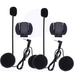 Image 5 - 2019 Fodsports Metal clip +2 pcs V6 Pro BT Interphone 1200M Motorcycle Bluetooth Helmet Intercom headset for 6 Rider 850mah