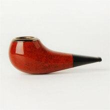 Трубы сигары сигареты Винтаж Прочный Деревянный табака черный курительная трубка с металлическим фильтром Hanyan ведро с короткой ручкой