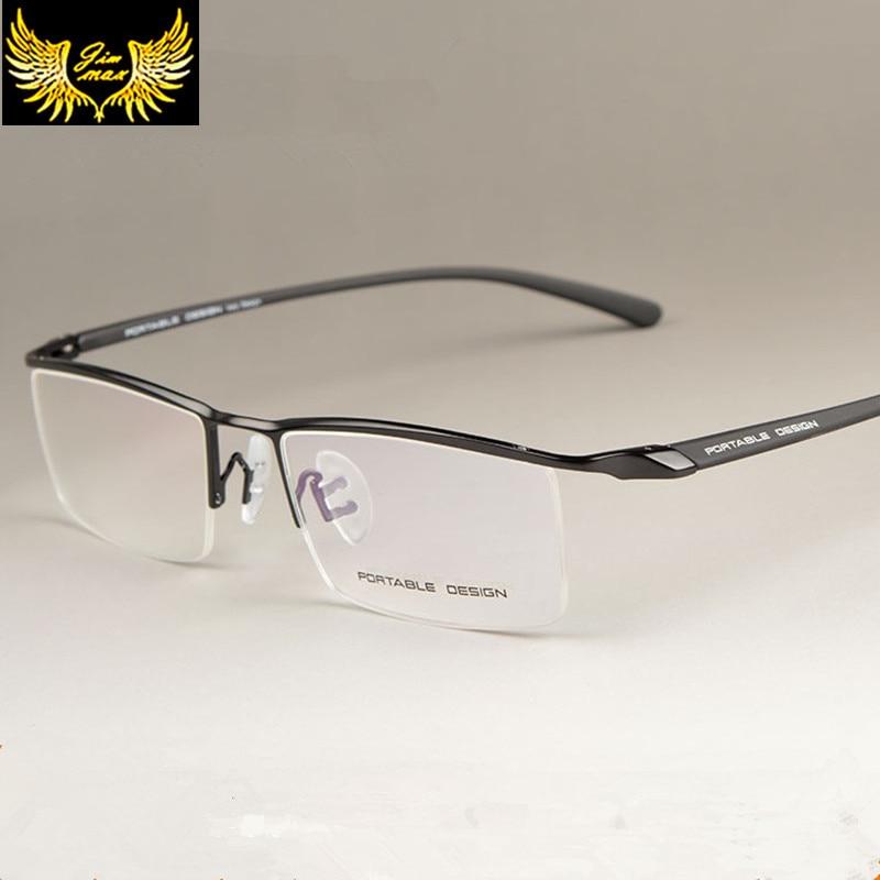 Férfi stílusú titánötvözetből készült félig felnőtt szemüveg Új érkezés hagyományos formatervezésű férfi szemüvegek alkalmi szemüveg férfiak számára