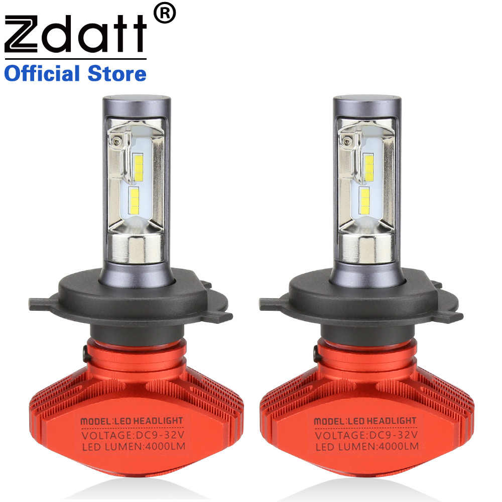 Zdatt 2Pcs Fanless Csp Auto Headlights 80W 8000LM H4 Led Bulb H1 H3 H7 H8 H11 9005 9006 HB3 HB4 Car Led Light 12V Automobiles