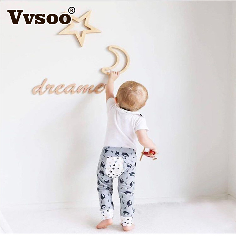 Vvsoo Nordic Wooden Decorations Board Moon/Star/Rabbit/Cloud Figurines Ornament Kids Room Partition Wall Stickers Baby Gifts ...