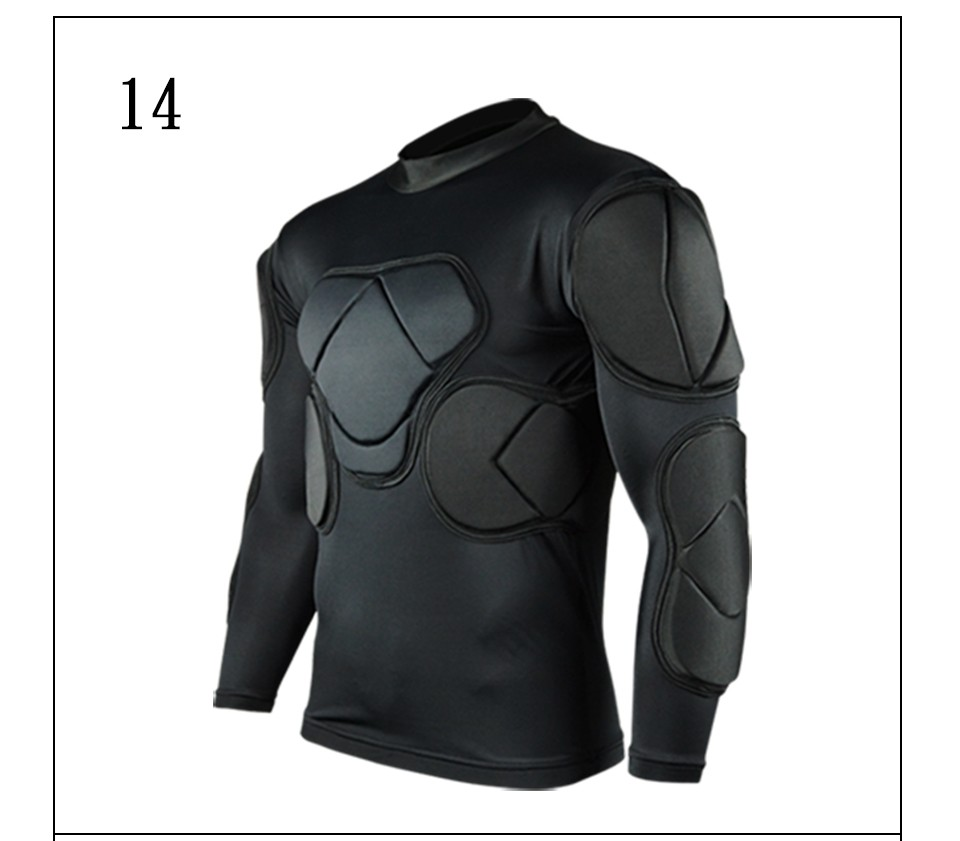 Survetement Football Shirt American Football Jerseys sports safety protection thicken soccer goalkeeper jersey elbow shirts vest image