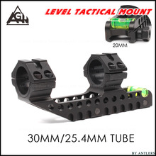 Tactical Scope Mount 25.4 mm 30mm Dual Ring Cantilever design  Heavy Duty Riflescope Mount with Bubble Level 20mm Rail Base corum bubble 42 mm l295 03048