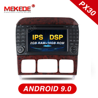 Mekede PX30 IPS DSP android 9.0 Car radio GPS navigation player for Benz W220 W215 S280 S320 S350 S400 S Class WiFi BT carplay