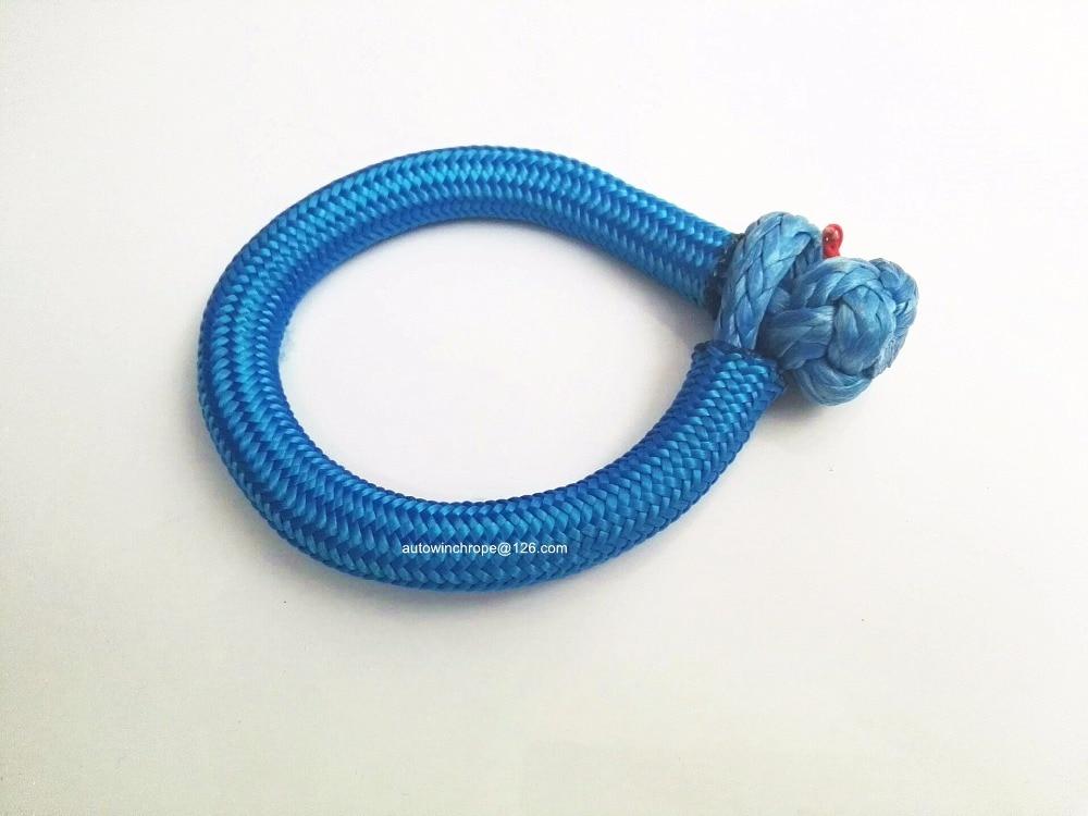 Azul 10mm * 80mm suave, grillete del torno del ATV de piezas, UHMWPE, grillete cuerda del torno del ATV