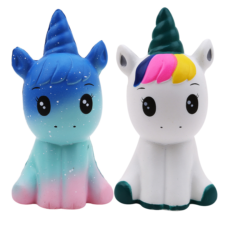 NEW 11CM Jumbo Unicorn Squishy Doll Slow Rising Flying Horse Phone Strap Decompression Toys Stress Reliever Mobile Phone Straps