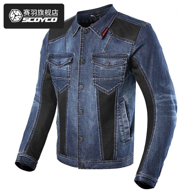 SCOYCO JK70 Motorcycle Jacket Spring Summer Men Denim Jacket Moto Motorbike Jean Jackets Chaquetas Outerwear Jaqueta Motoqueiro