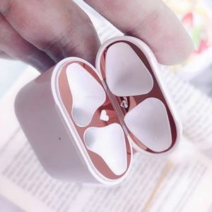 Image 4 - Metal Dust Guard for Apple AirPods Funda Case Accessories Protect Sticker Skin Protection For AirPods 1 2 Cute Pattern Sticker
