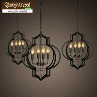 Европейский стиль деревенский Ресторан Лофт железная лампа фонарь промышленные ветровые лампы освещение для отелей светильники Подвески