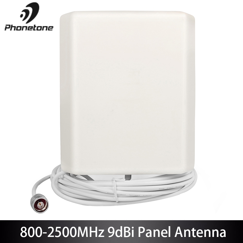 800-2500MHz High Gain 9dBi GSM 3G Lte Indoor Directional Panel Antenna Inside Antenna With 5m Cable For Signal Booster Repeater