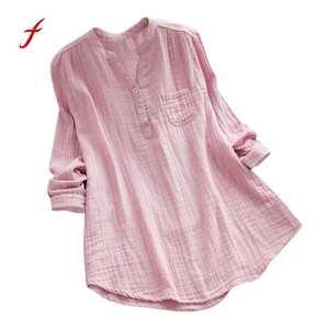 c68855b6 feitong Long Sleeve Tunic Tops Shirt Blouse Women lady 2018