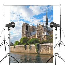 150x220cm Blue Sky Photography Background Notre Dame Architectural Landscape Backdrop Studio