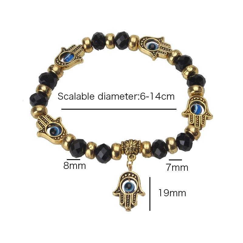 70426f0d6eefe Nazar yeni moda altın nazar mavi boncuk Hamsa bilezik charm trendy malzeme  Hamsa el boncuk bilezik kadın erkek hediye için ...
