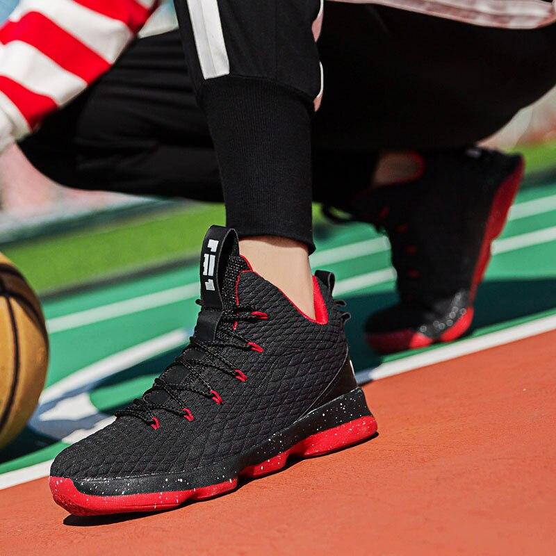 df884f565b6 Los hombres de alto top Lebron zapatos de baloncesto mujer amortiguación  Original zapatillas de baloncesto a prueba de golpes a prueba atlético al  aire ...