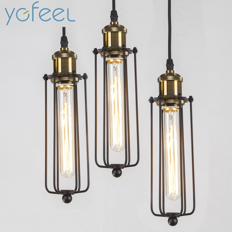 [YGFEEL] Vintage Retro Pendant Lights American Country Style Pendant Lamps Edison Flute Lamp Industrial Warehouse Loft Lighting