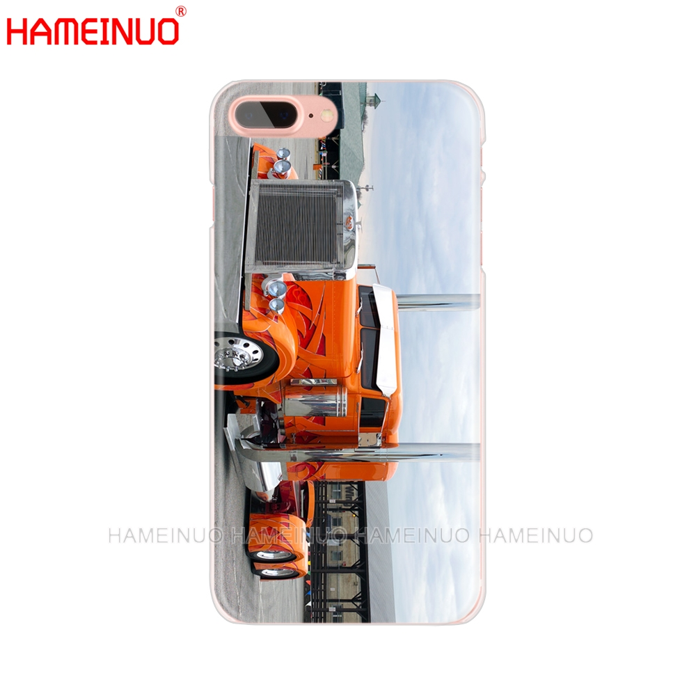 new product 55e89 a898b US $1.6 32% OFF|HAMEINUO Peterbilt Trucks cell phone Cover case for iphone  X 8 7 6 4 4s 5 5s SE 5c 6s plus-in Half-wrapped Case from Cellphones & ...