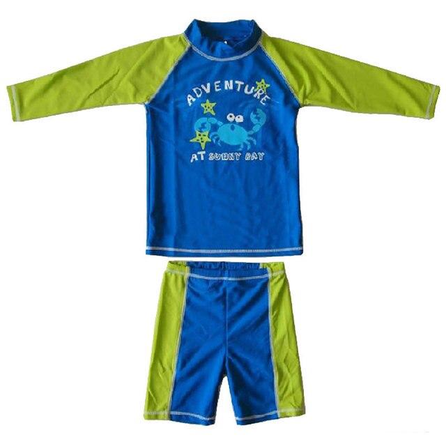 a2fada163 Children long sleeves swimwear surf clothing kid diving suits shirt swim  suit spearfishing kitesurf rashguard boy rash guard