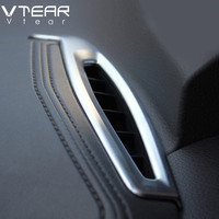 Vtear For Toyota C HR Chrome Air Conditioner Vent Outlet Cover Styling ABS Decoration Interior Mouldings