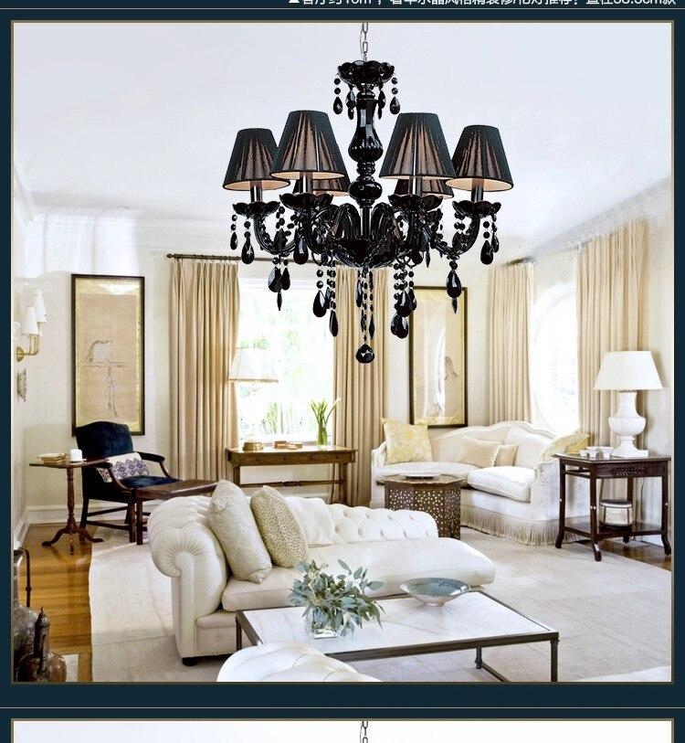 Moderne Kristall Kronleuchter Leuchten Decken Glanz Para Quarto Schwarz Led Fr Wohnzimmer