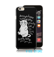 Grumpy Cat Quote Funny Big Bang Theory Song 2 Case Cover For Iphone 4 4S 5C