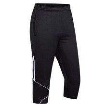 Мужские футбольные тренировочные штаны, футбольные тонкие леггинсы 3/4, мужские спортивные штаны для бега, фитнеса, баскетбола, спортивные штаны