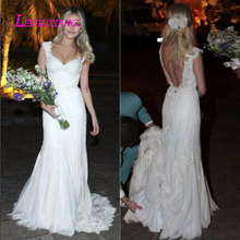 LEIYINXIANG 2019 Bride Dress Wedding Dress Backless