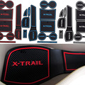 Anti Antiderrapante Para Nissan X TRail-X Trail XTrail Com LOGOTIPO palavras Em Adesivos de Carro Porta Copo Mat Ranhura Portão Pad Ranhura carro-Styling