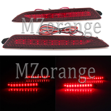 MZORANGE 1 Pair Tail Bumper Reflector Light For Hyundai Elantra 08-11 LED Parking Warning DC 12V Car styling Red  Brake Fog Lamp стоимость