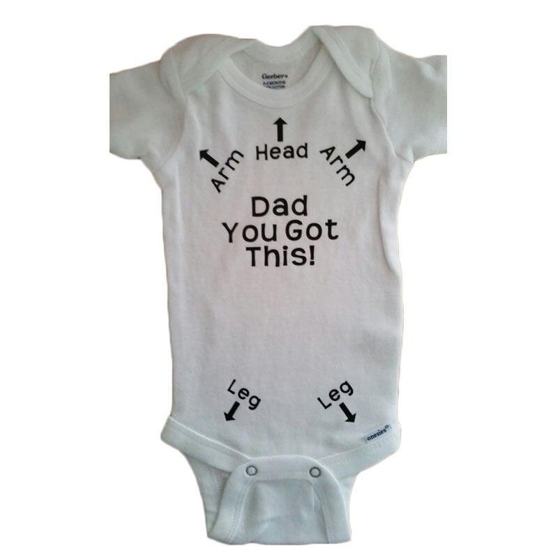 2017 New Hot Short Sleeve O-neck Summer Bulk Dad You Got This! USA Newborn Baby Girl Boy Clothes Romper Jumpsuit 6-18M