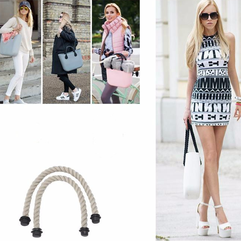 New 65cm Mini Obag Rope Handle Strap O Bag Price Obag Handles Bag Accessories For Women Silicon Handbag Style