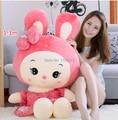 80 cm 90 cm 1 m 1.3 m muñecos de peluche juguetes de peluche de regalo de color rosa rubbit lindo peluche de juguete muñeca de Bugs bunny muñeco de peluche niñas muñeca regalo de cumpleaños