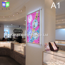 wall mounted advertising acrylic crystal picture frame led light box sign