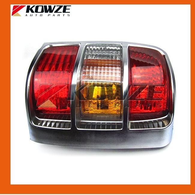 2PCS Chrome Tail Rear Combination Lamp Light Widen Frame For Mitsubishi Pajero Montero Shogun 2 II 1990-2004 MB831088 MB831089 цена 2017