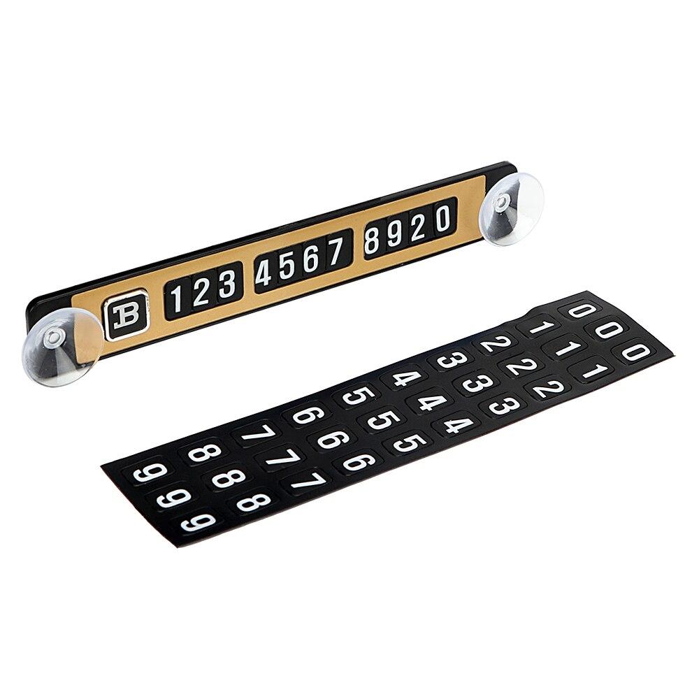 5 цветов Магнитная головоломка временная парковка карта световой стайлинг автомобиля Телефон номерные знаки автомобиля наклейку с присосками