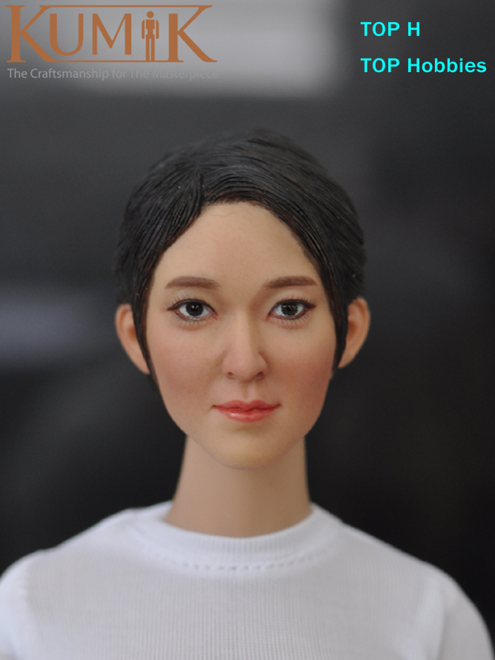 KUMIK Head 1/6 Female Head Sculpt 16-51 Female Carving Model Short Hair Fit 12 Phicen Action Figure Doll Body Toys 1 6 scale figure accessories doll female head for 12 action figure doll head shape fit phicne