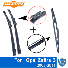 QEEPEI Front and Rear Wiper Blade no Arm For Opel Zafira B 2005-2011 High quality Natural Rubber windscreen 28+22R