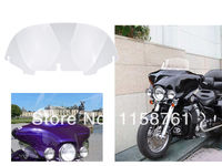 Free Shipping 8 Clear Windshield Windscreen For Harley Davidson FLHT FLHTC FLHX Touring 1998 2004