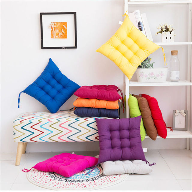Home Office Decor Comfortable Seat Cushion Mat Winter Office Bar Chair Back Seat  Cushions Sofa Pillow