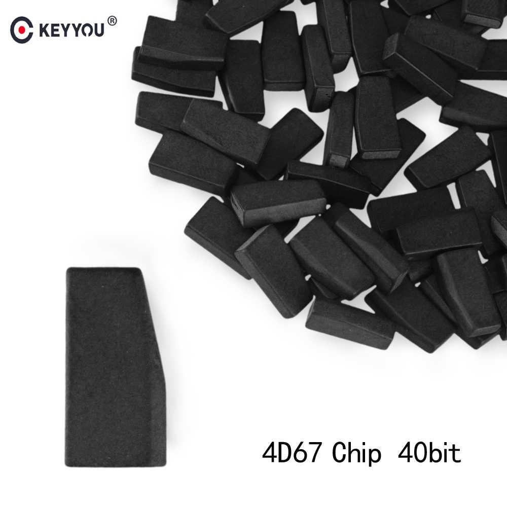 KEYYOU 1 stks Transponder Voor Lexus Toyota Corolla Crown RAV4 4D67 Chip Carbon 40 Bit ID 67 Startonderbreker Chip Afstandsbediening sleutel