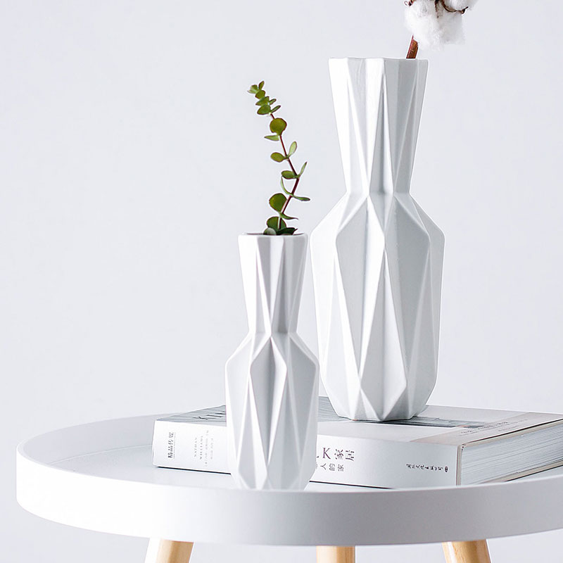 Die Origami Vasen Keramik Tabletop Grosse Vase Dekoration Vase Mode Modernen Europaischen Stil Blume Vase Haushalt Deco