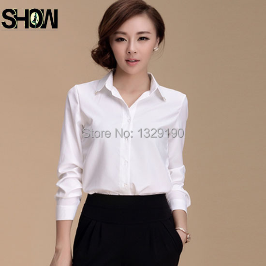 New Arrival Fall Fashion Business Office Shirt For Women Long Sleeve