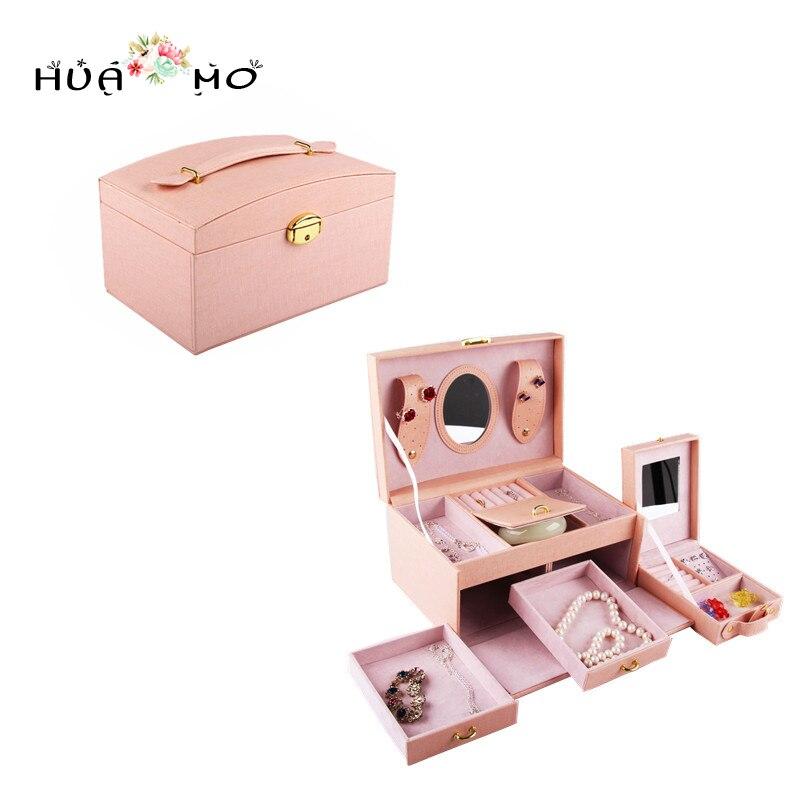 Women Brooch Earrings Bracelets Fashion Portable Jewelry Box Jewelry Packaging & Display Accessories Supplies Gear Stuff цена