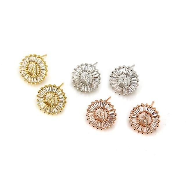 fb8feb234 Fashion A-Z Initial Letter Earrings Gold Rose Gold Crystal Earring Letter  Stud Earrings for Women Girls Jewelry Gift oorbellen