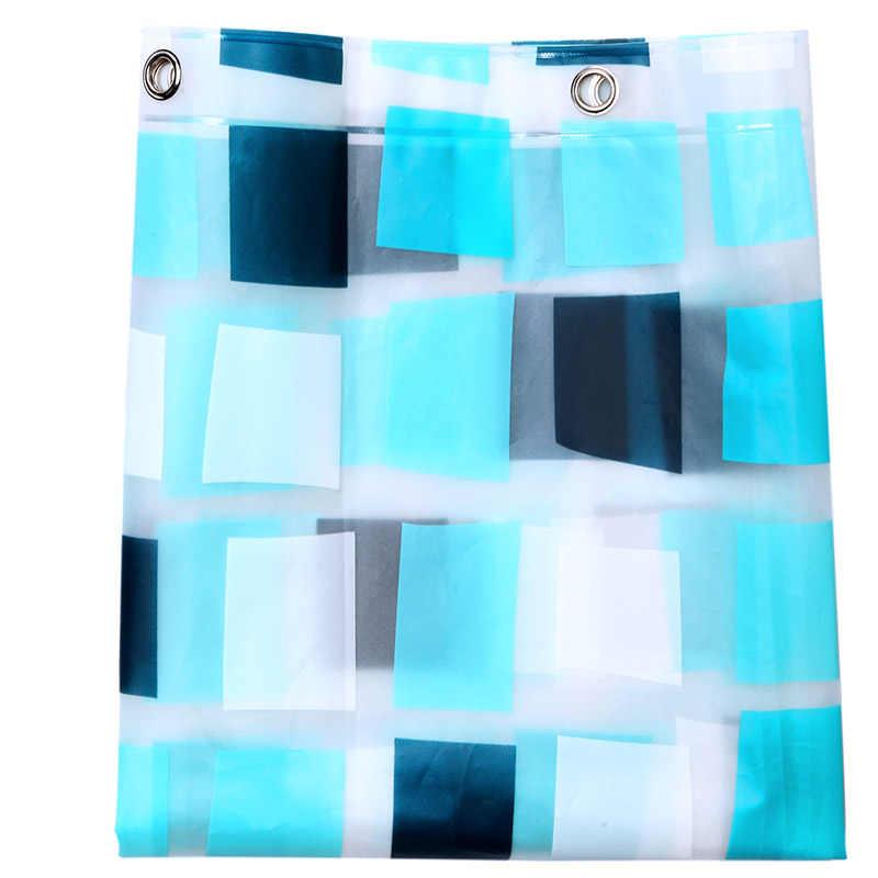 الأزرق منقوشة مقاوم للماء PEVA دش الستار Skidproof قابل للغسل ستارة الحمام العفن مقاومة جودة اكسسوارات الحمام الستار