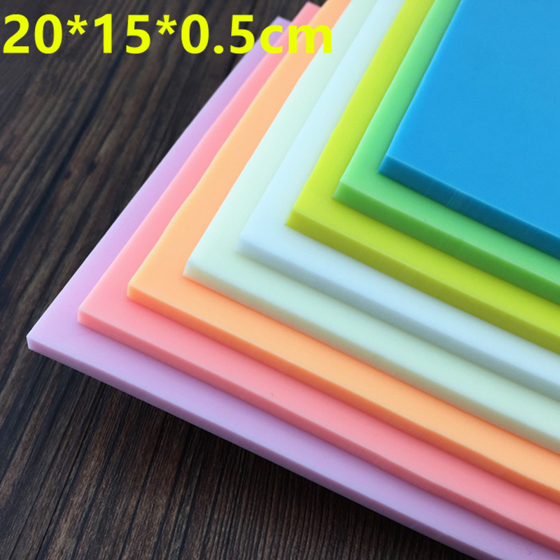 DIY professional engraved rubber stamped rubber bricks 20 * 15 * 0.5cm candy colored rubber stamps scrapbook