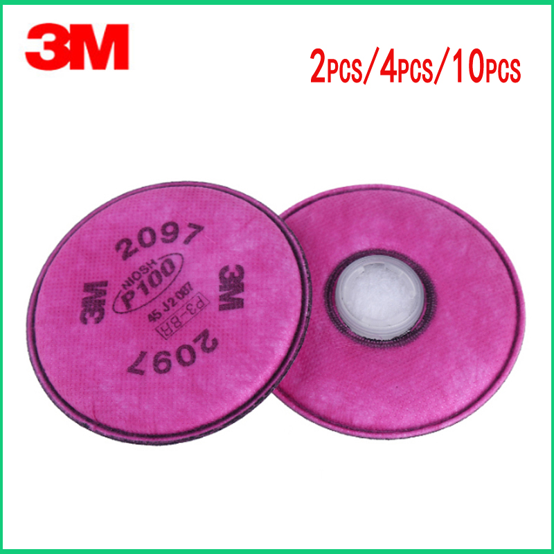 3M 2097 Painting Spray Industry particulate P100 Filter For 3M 6200 7502 Series Gas Mask Filters3M 2097 Painting Spray Industry particulate P100 Filter For 3M 6200 7502 Series Gas Mask Filters