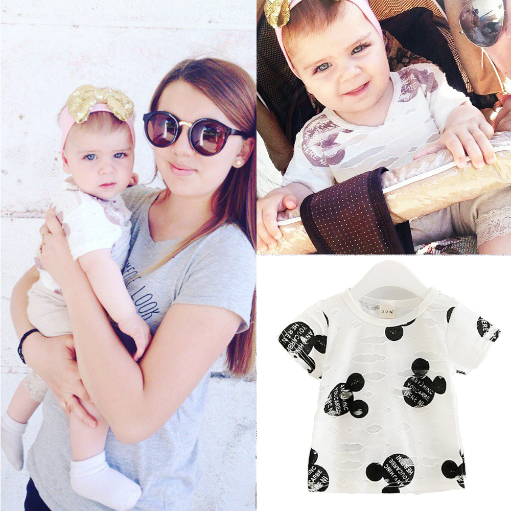 2017 summer Baby boys / Girls Cartoon cotton T-Shirt Mouse Short-Sleeve Casual T-shirts For Kids Children's T-Shirts clothes