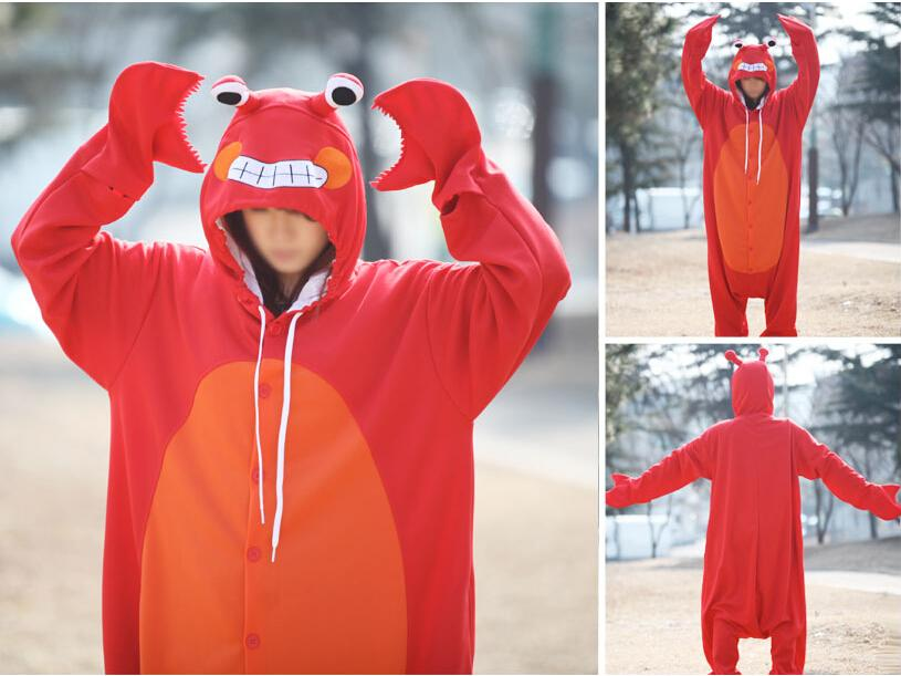 Cartoon Crab Onesies Red Crab Cosplay Costumes Tasty Crab Cosplay Costumes Hallowmas Party
