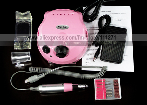 1 set - Electric Nail Drill Polisher (US202) - for Nail Manicure/Pedicure Polishing / Filing - Nail Art Machine - Free Shipping